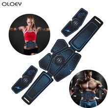 Abdominal Muscle Stimulator Trainer ABC Sport Fitness Equipment Training Gear Muscles Electrostimulator Toner USB Charging Gym