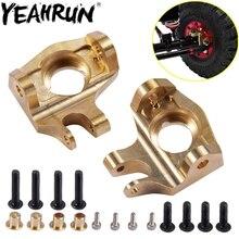 YEAHRUN 1 para mosiądz Heavy Duty przedni układ kierowniczy pierścionki na środek palca dla 1/10 RC Axial SCX10 II 90046