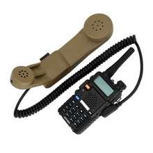 H250 Baofeng Kenwood walkie-talkie 2 pin Shoulder microphone ptt Military handheld speaker microphone