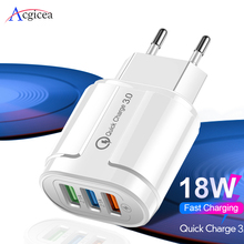 USB Charger Quick Charge 3.0 Mobile Phone Charger Adapter for iPhone XR 11 Pro Max XS EU/US Plug 3 Ports USB QC3.0 Fast Charging quick charge 3 0 usb charger travel for iphone samsung micro usb type c fast charging 3 ports eu us plug mobile phone charge