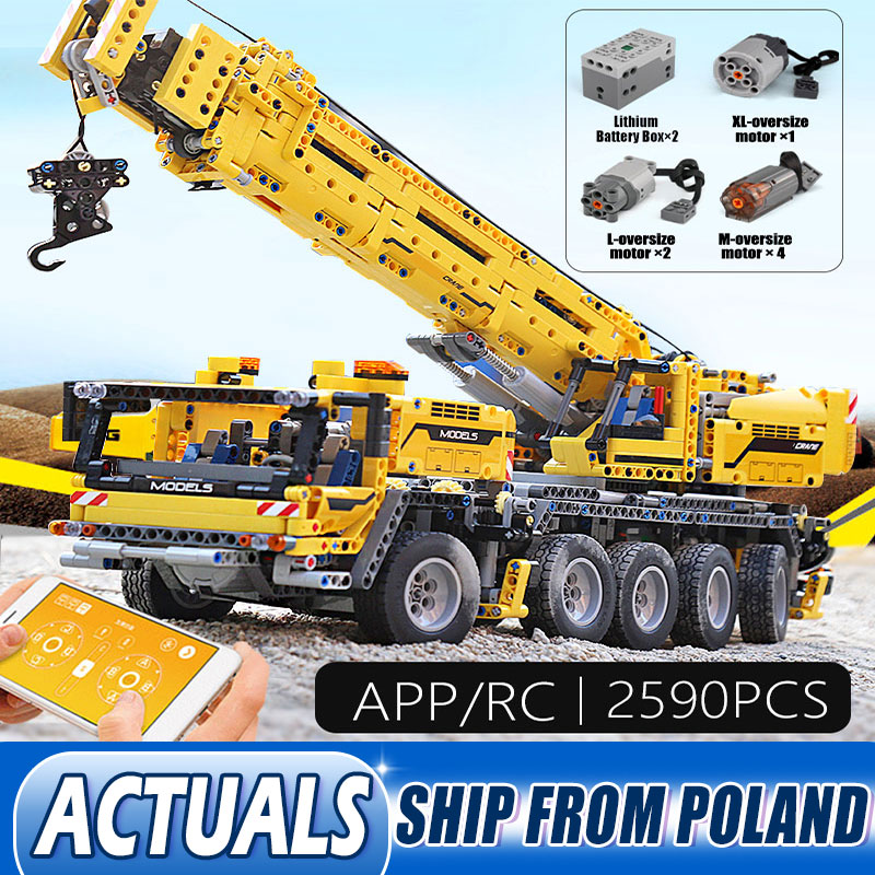 DHL 20004 Technic Car Toys Mobile Crane MK II Assembly Kids Christmas Toys Compatible With <font><b>42009</b></font> Building Blocks Bricks image