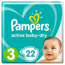 Подгузники Pampers Active Baby 3(5-9 кг) 22 шт