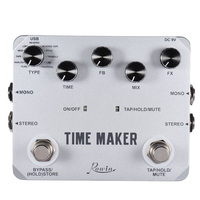 Rowin Time Maker 11 Types of Ultimate Delay Pedal for Guitar Bass with Tap Tempo 3 orders