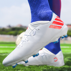 Men Soccer Shoes Adult Kids TF/FG High Ankle Football Boots Cleats Grass Training Sport Footwear 2020 Trend Men's Sneakers 35-4