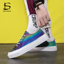 Sneakers Men's Casual Shoes Skateboard Luminous Color Changing Shoes Male Adult Fashion Walking Shoes Low-Top Light Sports Shoes