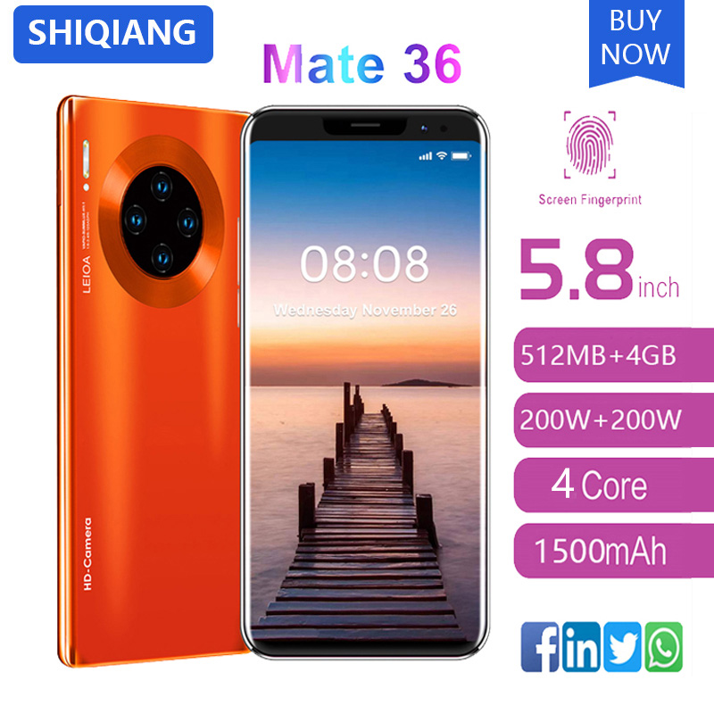 SOYES Mate36 pro Mobile Phone Android Fingerprint Recognition 5.8