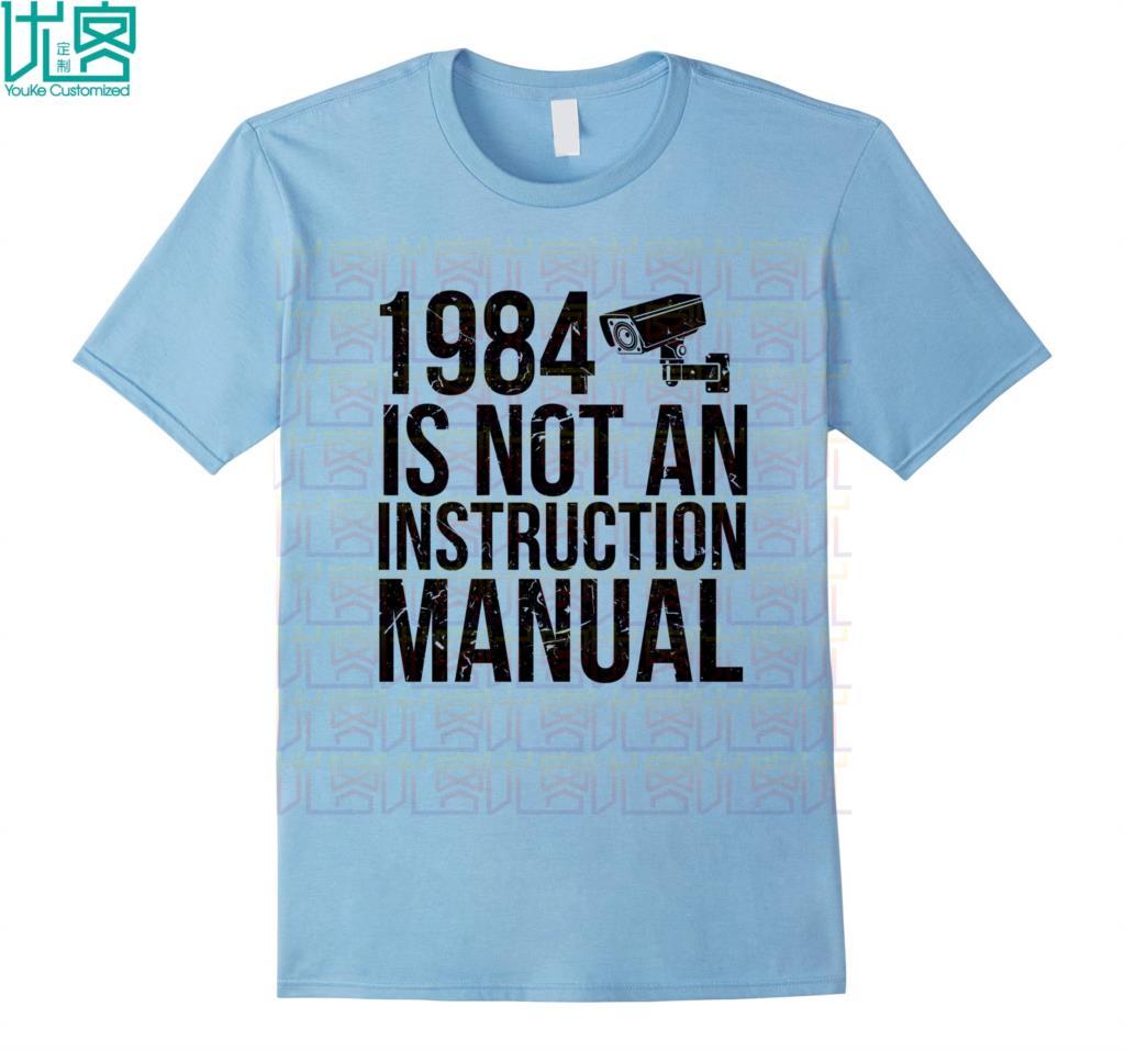 Divertida camisa libertaria, Manual de instrucciones, increíble camiseta informal de manga corta, 100%, Camiseta de algodón