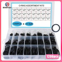 740pcs 1200pcs NBR Seal Ring Kit Thickness 1.5mm 2.4mm 3.1mm Nitrile Rubber NBR O Ring Gasket Sealing Ring