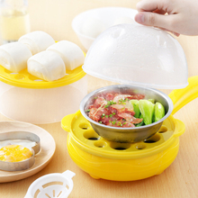 Double-layer Electric Pan Mini Fried Eggs Artifact Non-Stick Frying Automatic Pancake Egg Inserted Cooker Safe Food Steamer Sets multifunction household mini egg omelette pancake fried steak electric frying pan non stick boiled egg boiler steamer eu us