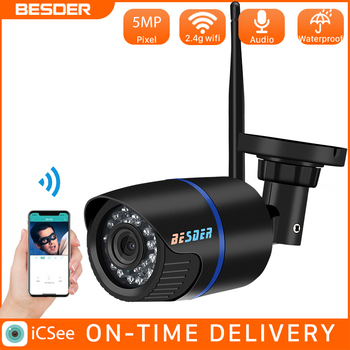 besder vr302 360° panoramic camera hd 960p ip camera wi fi two way audio with sd card slot indoor vr security camera wireless BESDER 5MP Audio Security Wireless 720P Night Vision IP Camera ONVIF Surveillance Outdoor Wifi Camera With SD Card Slot Max 128G