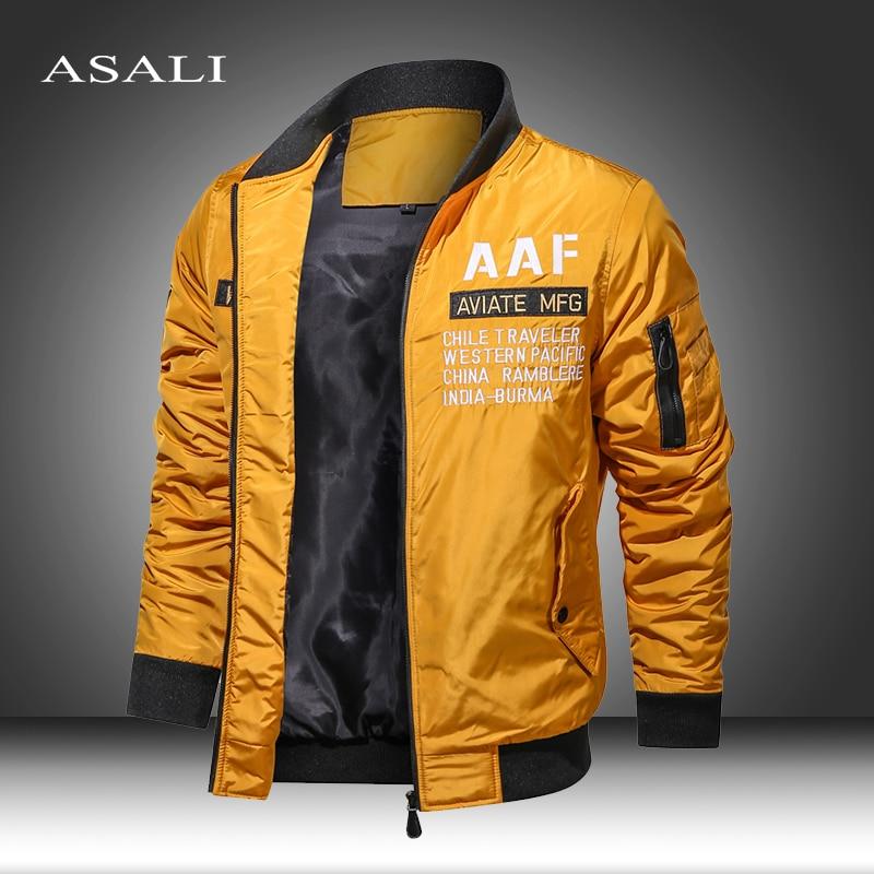 2020 outono inverno jaquetas e casacos sólidos militares parkas homens blusão casaco piloto do exército bombardeiro jaquetas de carga vôo