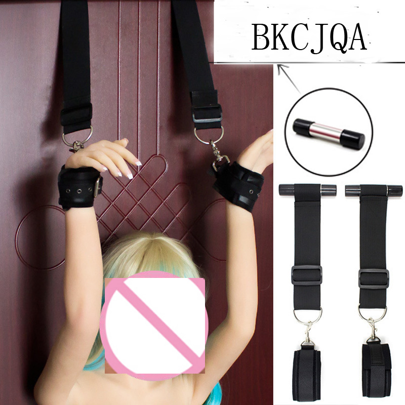 Sex Toys Erotic Toys For Adults Couples BDSM Bondage Handcuffs Nipple Clamps Gag Whip Rope Women Nylon Ankle CuffsSex Bondage