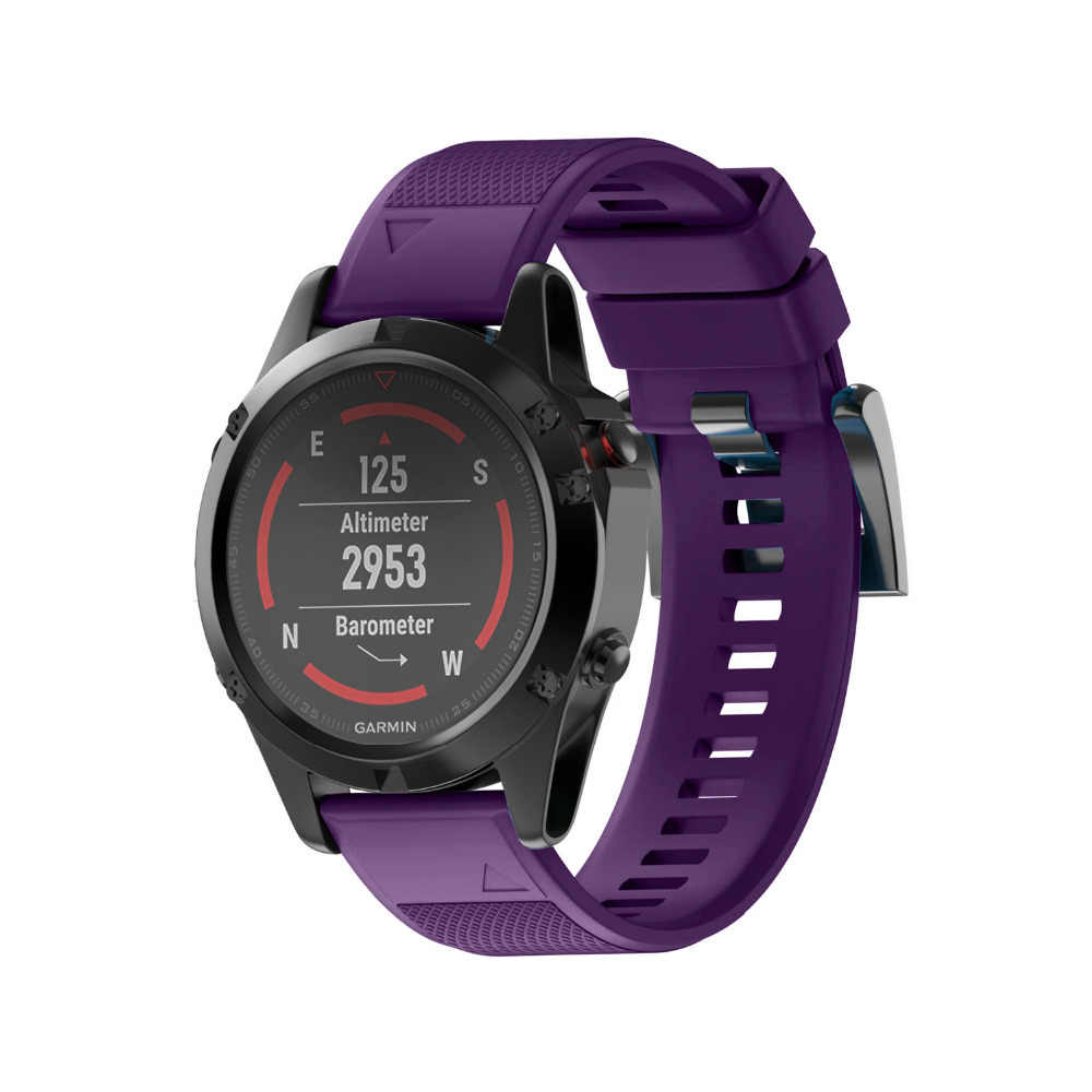 Silikonowy pasek do zegarka dla Garmin Fenix 5 zespół GPS zegarki pasek zastępczy Silicagel bransoletka na rękę darmowa wysyłka