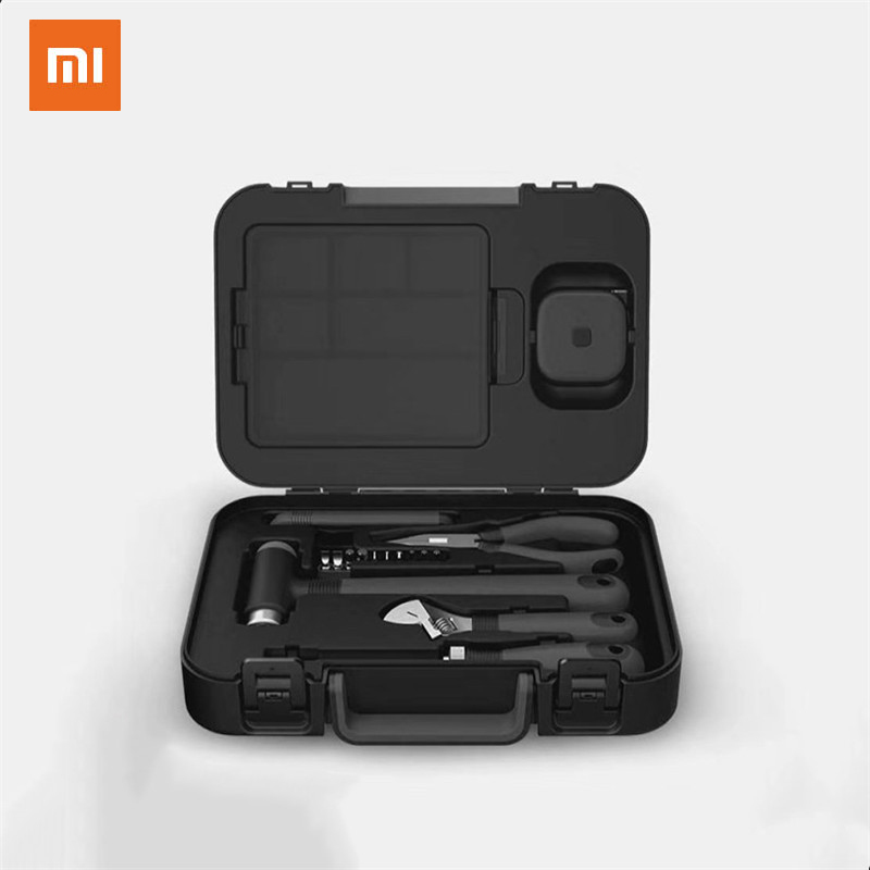 XIAOMI MIIIW 16Pcs DIY Tool Kit Toolbox General Household Hand Tool With Screwdriver Wrench Hammer Tape Plier Multifunctional