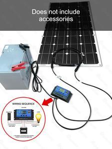 Image 5 - Dokio 12V 100W Monocrystalline Flexible Solar Panel For Car/Boat High Quality Flexible Panel Solar 100w China