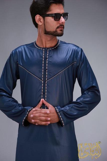 الملابس الإسلامية الرجال رداء طويل الأكمام العربية قفطان الإسلام فستان عربي الرجال المملكة العربية السعودية ازياء مسلم كورتا باكستان الهندي 1