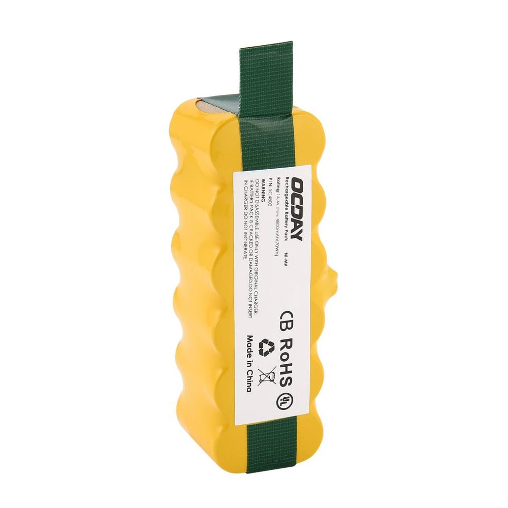 OCDAY 14.4V 4800mAh Ni-MH Vacuum Cleaner Rechargeable Battery Pack Replacement Battery Suitable For Irobot Roomba