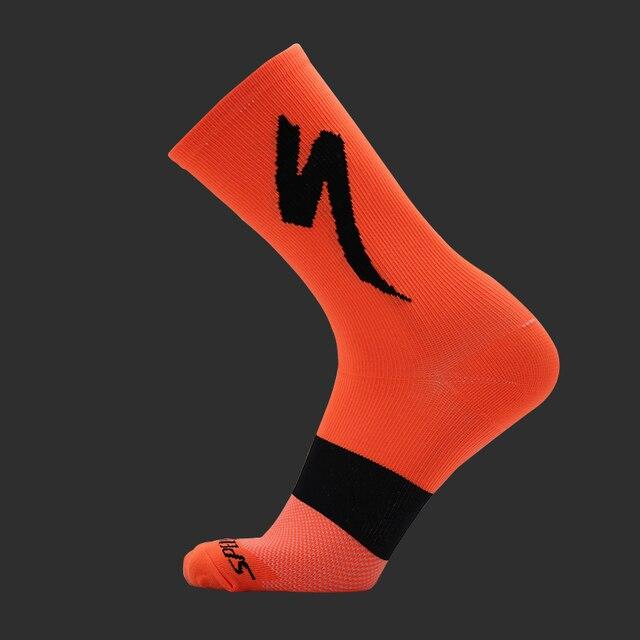 Nova bicicleta equitação meias para homem e mulher modelos de esportes ao ar livre correndo desodorante resistente ao desgaste meias de bicicleta 6