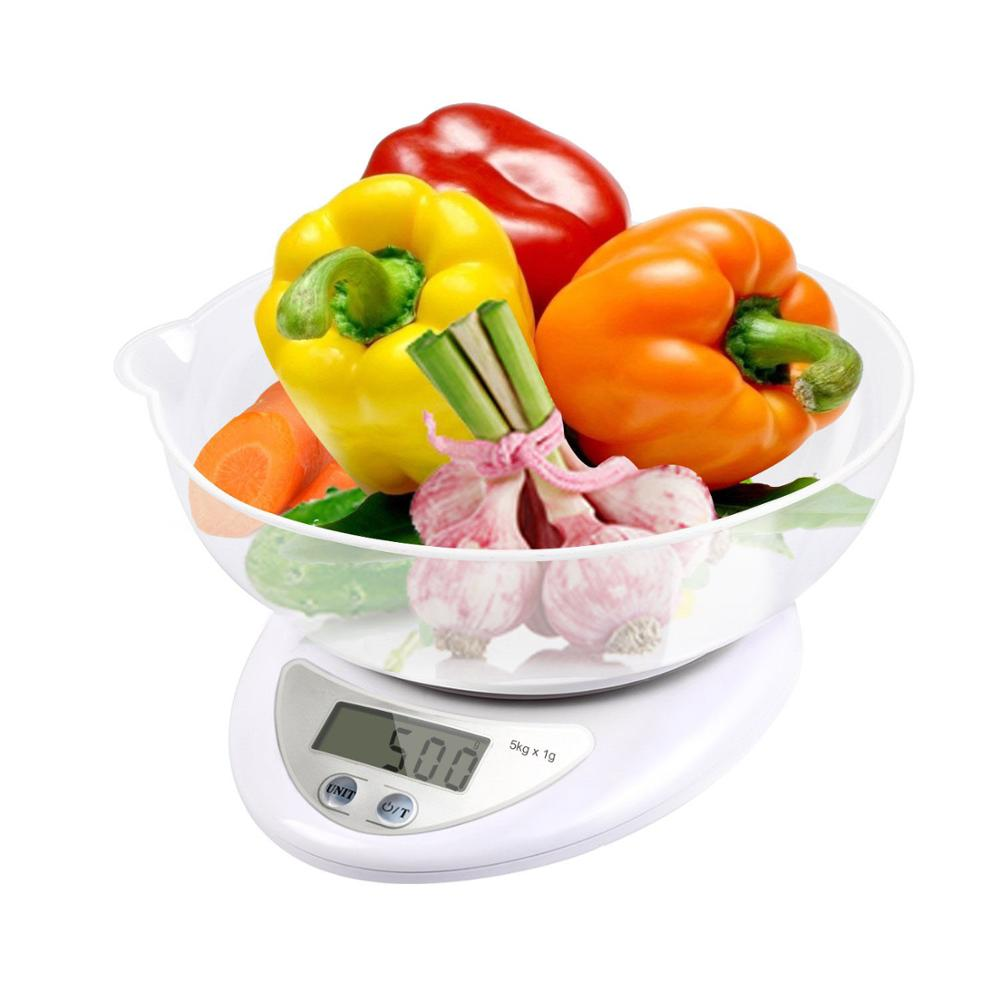 Digital Food Scale, Food Kitchen Scale Digital Cooking Weight Scale Food Scale Bowl With Ounce Grams High Accuracy Tare Auto Off