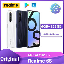 Realme 6S Nfc 6.5Inch + Fhd 90Hz Smartphone 6Gb 128Gb 4300Mah 48MP Quad Camera android Play Store 30W Charger Смартфоны Телефон