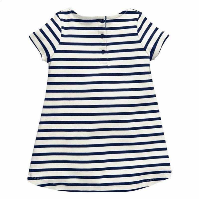 2019 vestido de verano para niñas vestido de bebé de rayas azules ropa para niñas vestidos de niños