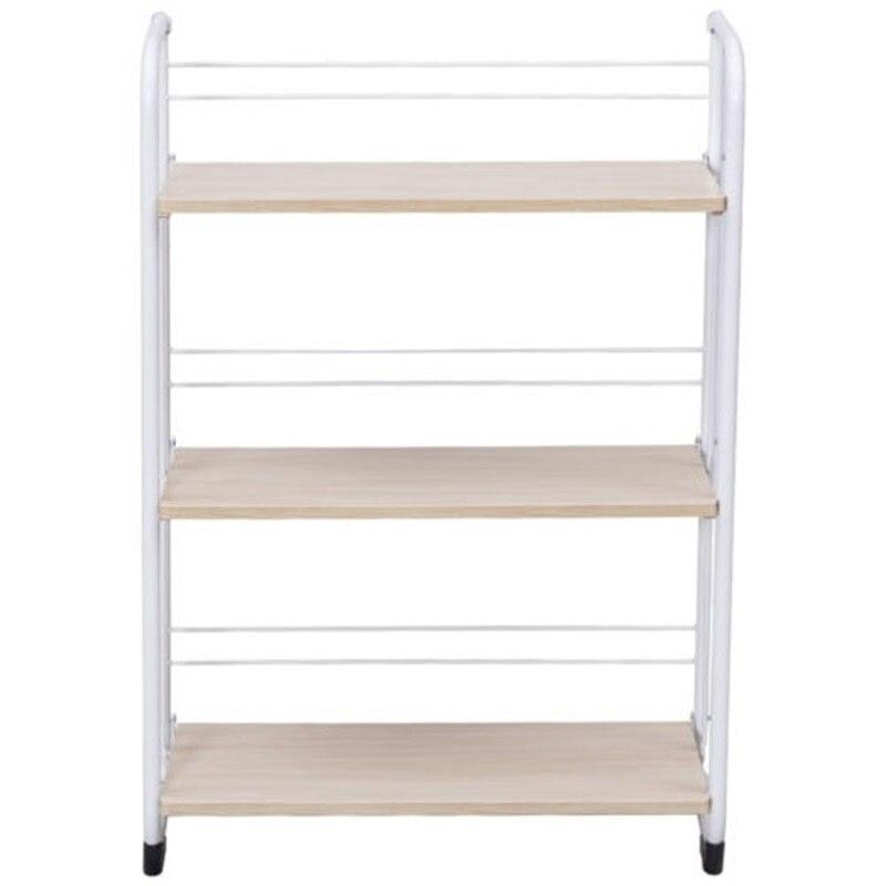 3 х уровневый складные полки для хранения утилита постоянная стойка для Кухня гараж для офисного помещения, используя пол Тип дома держател... - 3