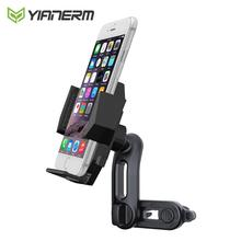 Yianerm Double Air Vent Car Phone Holder Auto Clip Arm Holder For Phone in Car Vent Mount For iPhone X XS Max Samsung S9 Xiaomi