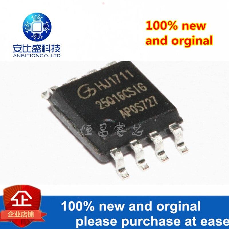 10pcs 100% New And Orginal GD25Q16CSIG Silk-screen 25Q16CSIG GD25Q16 16Mbits SOP8 In Stock