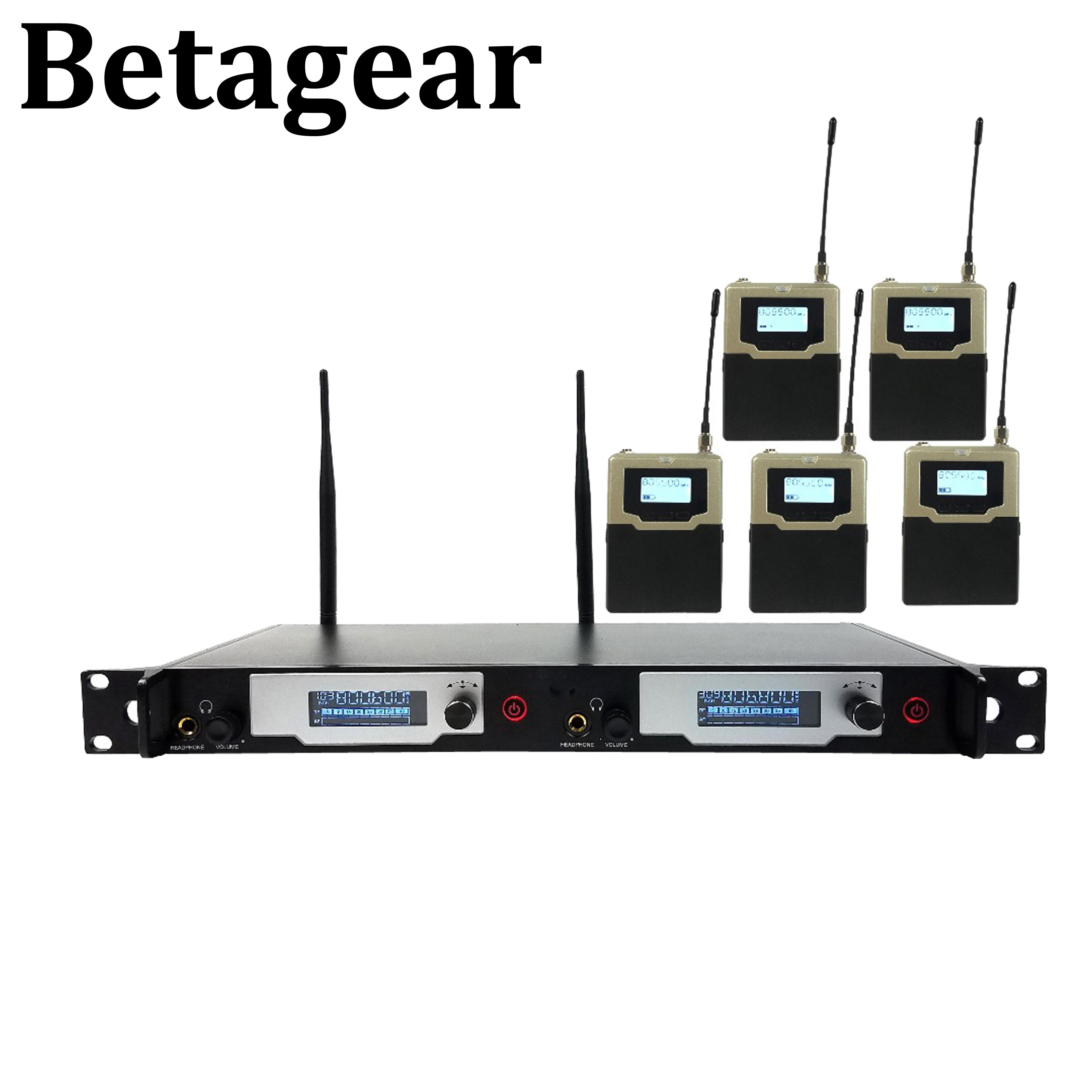 Betagear In ohr-monitor drahtlose system L9400 UHF IEM Bühne überwachung porfessioanl audio 5 empfänger für bühne leistung