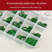 18 Grid 270pcs Rubber O Ring Universal Car Air Conditioner Compressor Seal Ring O-Ring Seals Gasket Silicone Rubber Ring high quality rubber 270pcs 18 sizes o ring kit green metric o ring seals nitrile
