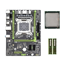 HOT-X79 M2 3,0 LGA2011 Motherboard Unterstützung NVME M.2 SSD SATA3.0 SATA2.0 USB3.0 mit E5 2650 CPU 2x4G 1600 ECC Speicher