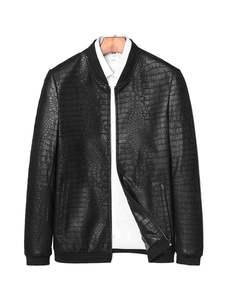 Jackets Crocodile-Pattern Dusen Klein Fashion Coats Sheepskin Men Genuine And Formen