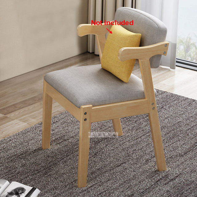 Solid Wood Dining Chair With Soft Seat 6