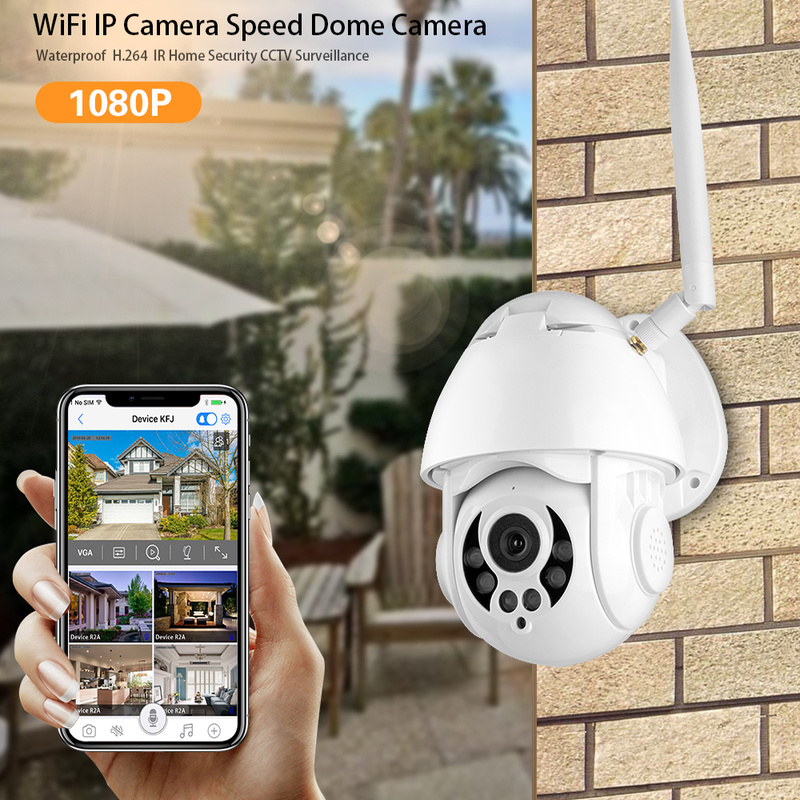 1080P WiFi IP PTZ Camera Face Recognition Outdoor CCTV Security Cam Night Vision