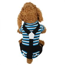 Ocardian Pet Dog clothes Classic stripe Pocket Four-legged dogs Bib Pants Fashion Comfort Cat Dogs Clothing dog jumpsuit pajamas(China)