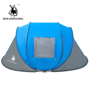 Image 2 - Large throw tent outdoor 3 4 6 persons automatic speed open throwing pop up windproof waterproof beach camping tent large space