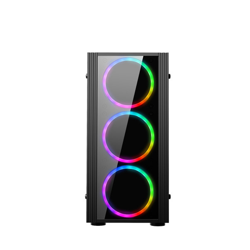 374*185*380MM Acrylic Full-side Transparent computer case Vertical matx Water Cooling PC Gaming Chassis case gabinete computador 1
