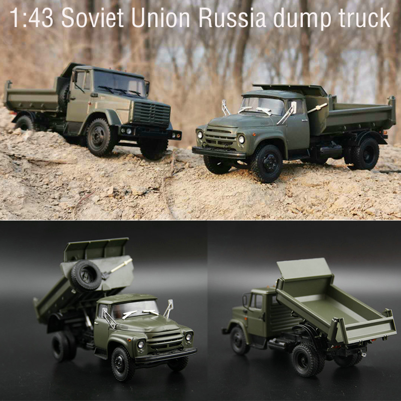 1:43 S Soviet Union  Russia  Truck Zi Dump Truck  Alloy Car Model  Static Finished Product