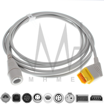 Compatible with 14pin Nihon Konden Monitor IBP Adapter Cable and BD Edward Medex Abbott Smith PVB Utah Pressure Transducers image
