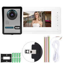 7 cal LCD wideo telefon drzwi intercom ekran aparatu system alarmowy do domu 110-240V czujnik ruchu dzwonek