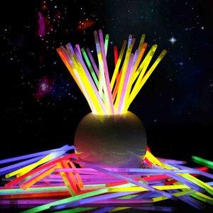 100 pçs mix cor brilho vara luminosa brinquedos led óculos colar pulseiras fluorescentes festival festa suprimentos decoração do concerto