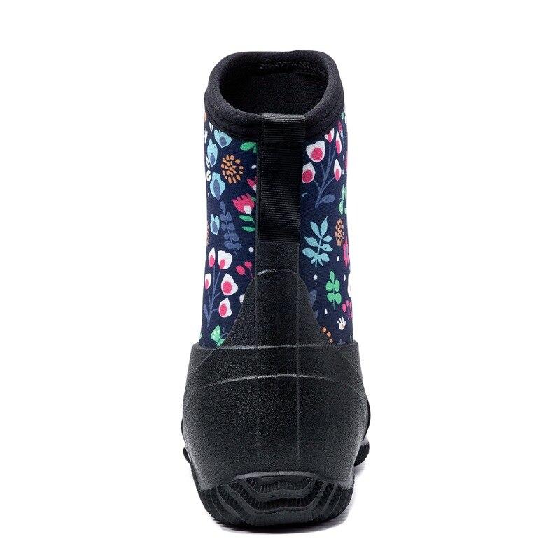 botas de chuva cor solida sapatos 04