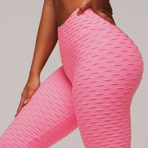 Image 1 - SVOKOR Fitness Weibliche Leggings Polyester Ankle Länge Atmungs Hosen Leggins Frauen Standard Falten Push Up Legging