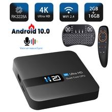 HONGTOP akıllı android tv kutusu android 10 RK3228A medya oynatıcı tv kutusu 4k 3D video ses yardımcısı android 10 tv kutusu 2GB 16GB