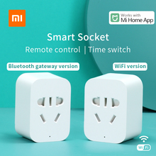 Xiaomi Mi akıllı soket Mijia akıllı ev fişi wifi veya Bluetooth sürüm APP uzaktan kumanda güç algılama ile çalışmak Mi ev uygulaması
