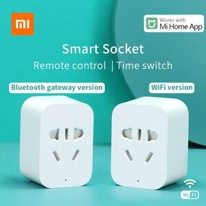 Image 1 - Xiaomi Mi akıllı soket Mijia akıllı ev fişi wifi veya Bluetooth sürüm APP uzaktan kumanda güç algılama ile çalışmak Mi ev uygulaması