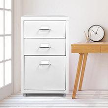 IKayaa métal tiroir classeur détachable Mobile en acier classeurs salon armoires meubles de salon