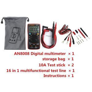 AN8008 True-RMS Digital-Multimeter 9999 Zählt Platz Welle Spannung Amperemeter LCD Digital Multimeter Spannung Amperemeter