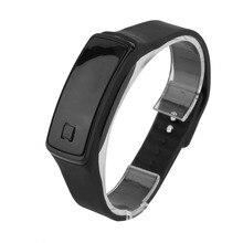 2018 Super Lightweight LED Touch Design Sport Running Digital Bracelet Soft Silicone Smart Wristaband White/Black/Red