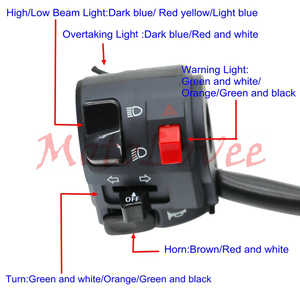 Image 5 - MotoLovee 22mm Motorcycle Switches Motorbike Horn Button Turn Signal Electric Fog Lamp Light Start Handlebar Controller Switch